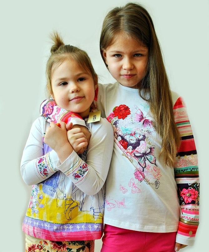 Фото 3: яркая блуза KENZO для девочек