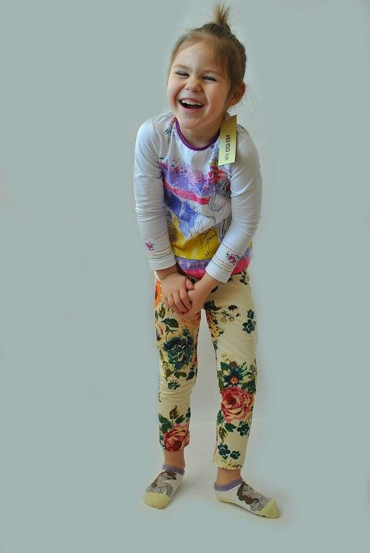 Фото 4: яркая блуза KENZO для девочек