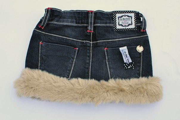 Фото 1: Детская джинсовая юбка TO BE TOO