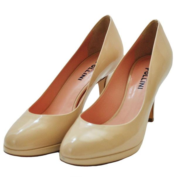 Туфли лакированной кожи однотонного цвета без аппликаций, каблук обтянут кожей. Картинка: 2