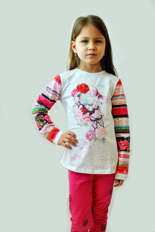 Фото 6: яркая блуза KENZO для девочек