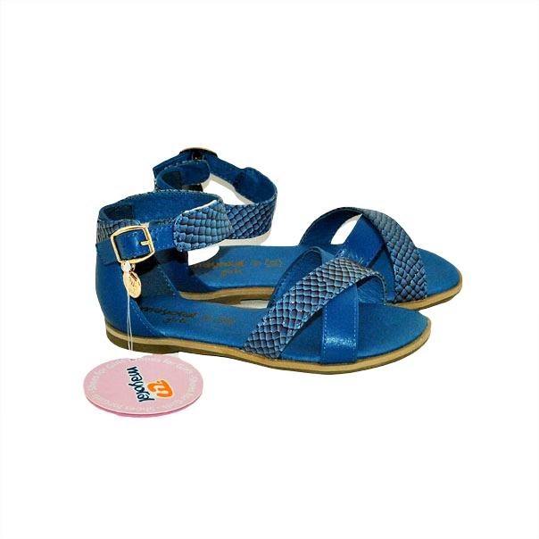 Фото 3: Синие босоножки для девочек Mayoral
