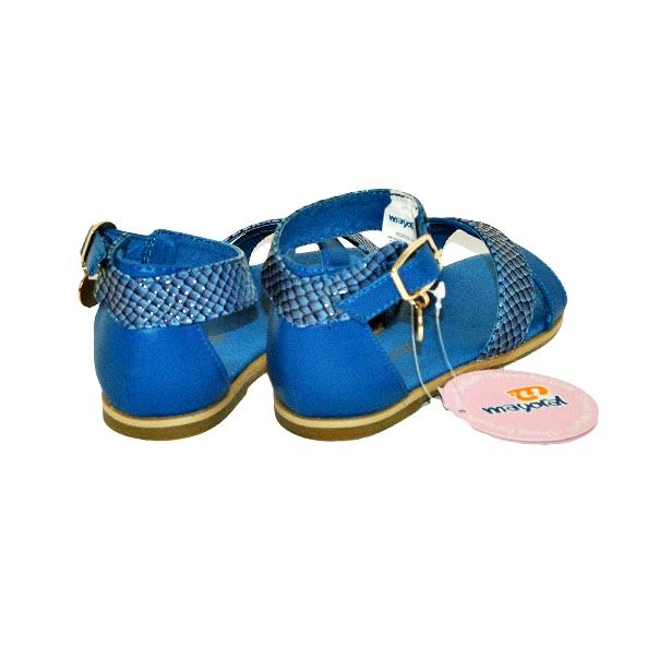 Фото 4: Синие босоножки для девочек Mayoral