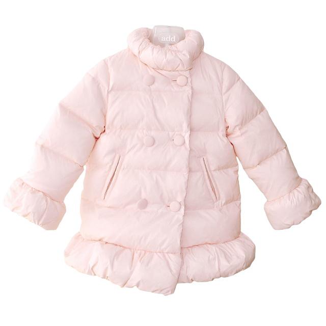 Фото 1: Розовый пуховик Blumarine Baby для девочек