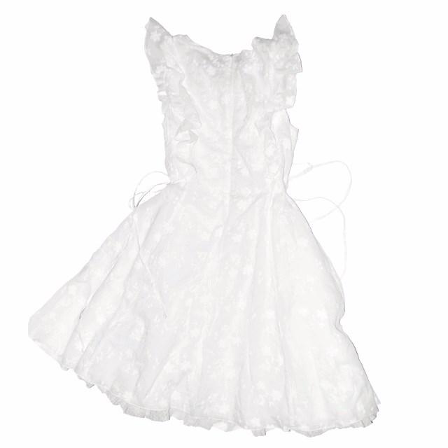 Фото 3: Нарядное белое платье Patrizia Pepe для девочек