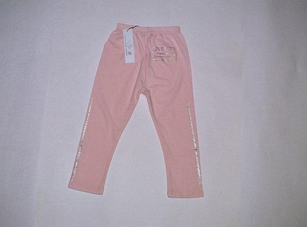 Фото 2: Розовые леггинсы для девочек LMJ