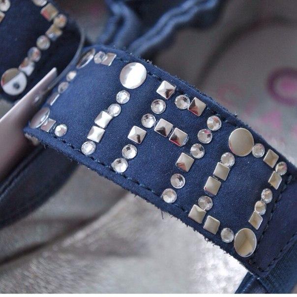 Фото 4: Синие туфли для девочек Ciao bimbi