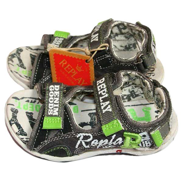 Фото 1: Легкие кожаные босоножки Replay для мальчиков