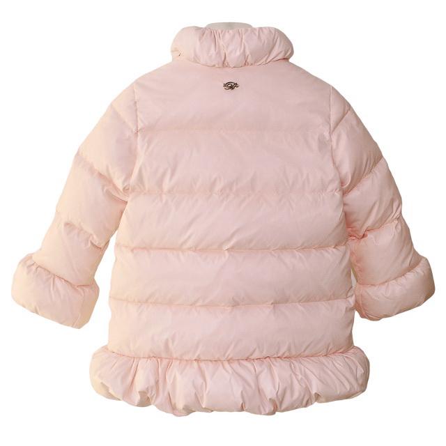 Фото 2: Розовый пуховик Blumarine Baby для девочек