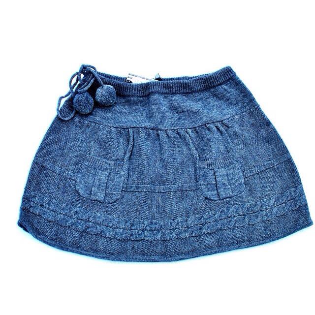 Фото 1: Модная вязанная юбка для девочек TO BE TOO