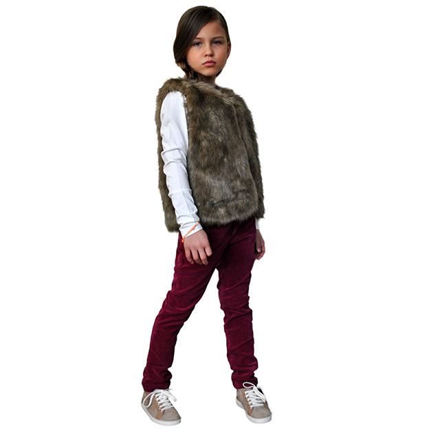 Меховая жилетка ETHIK SISTers для девочек. Фото: 7