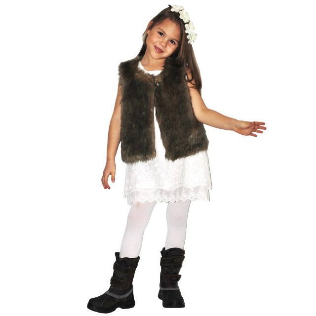 Фото 7: Меховая жилетка ETHIK SISTers для девочек