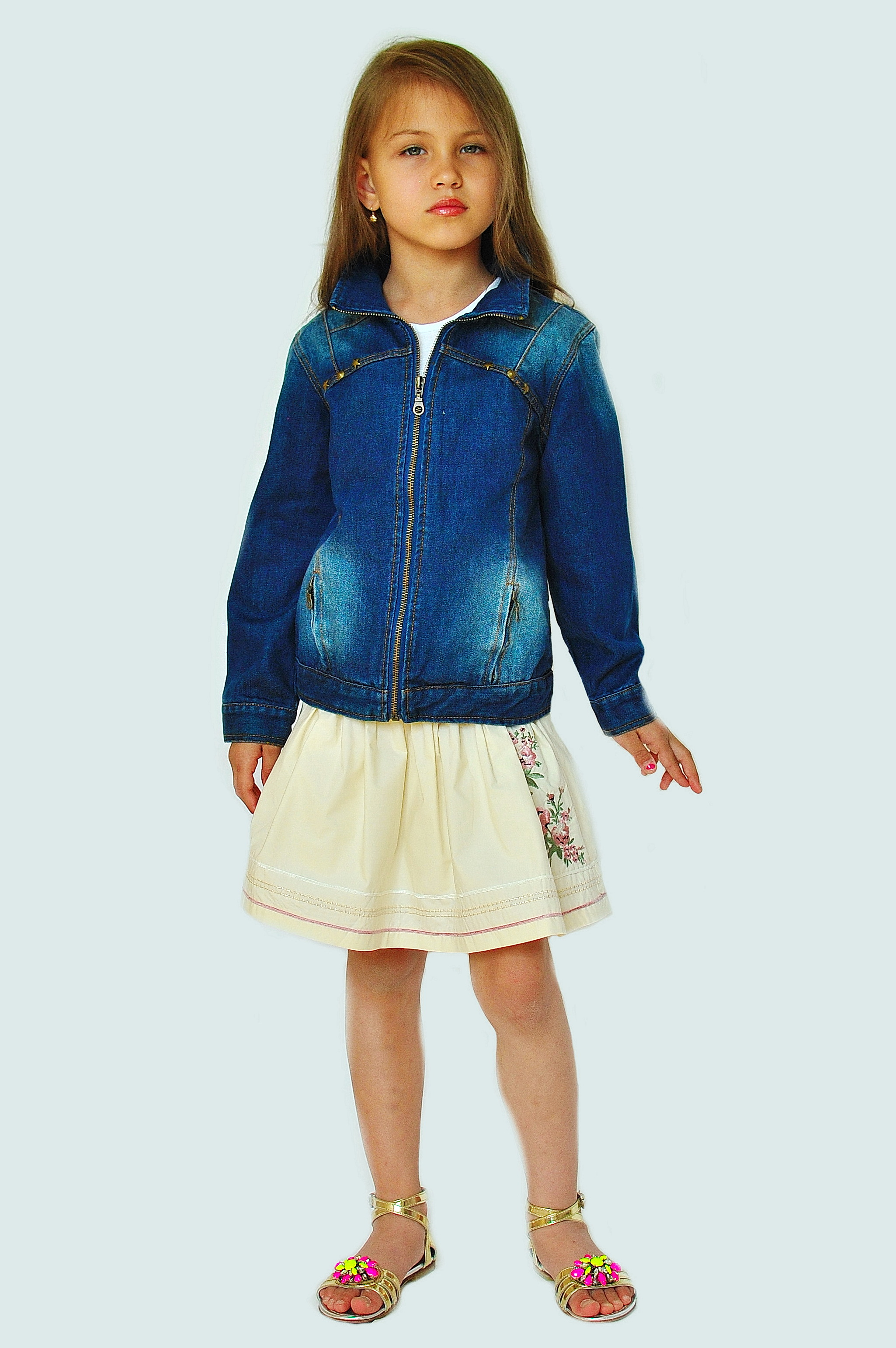 Фото: 3. Пиджак джинсовый Catimini для девочек