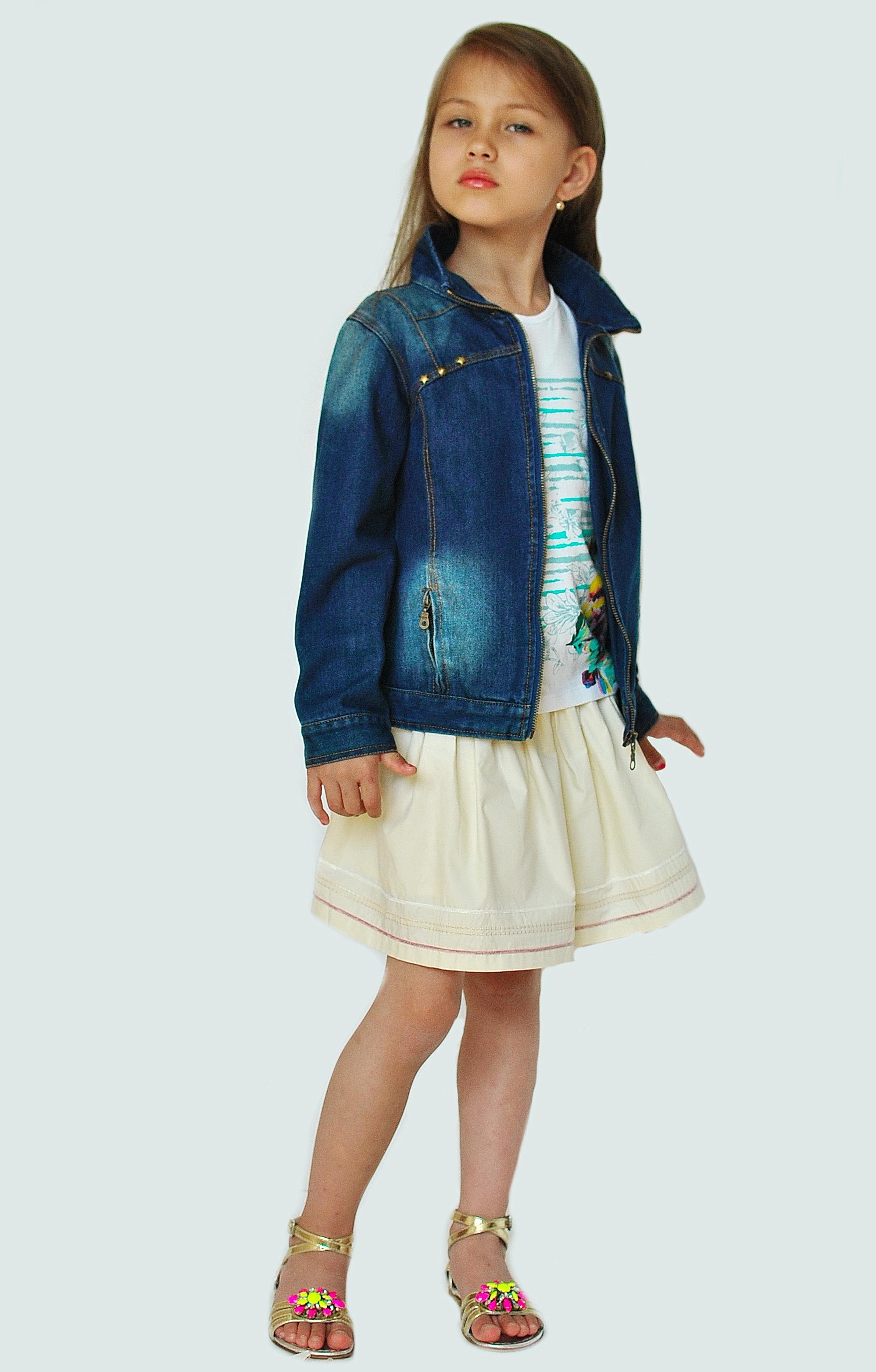 Фото: 1. Пиджак джинсовый Catimini для девочек