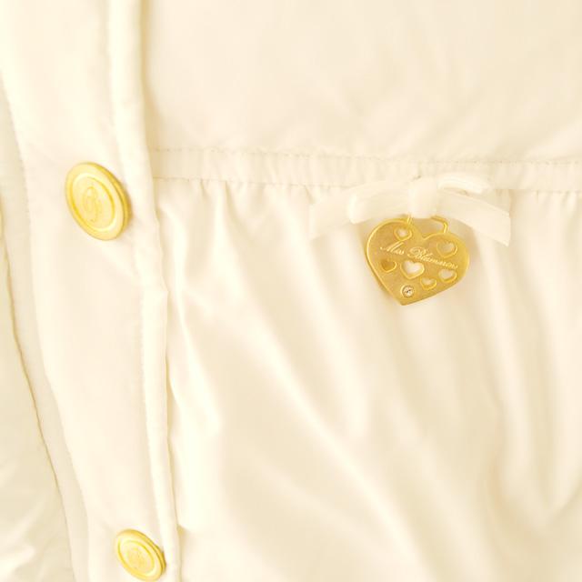 Фото 3: Белый пуховик Blumarine Baby для девочек