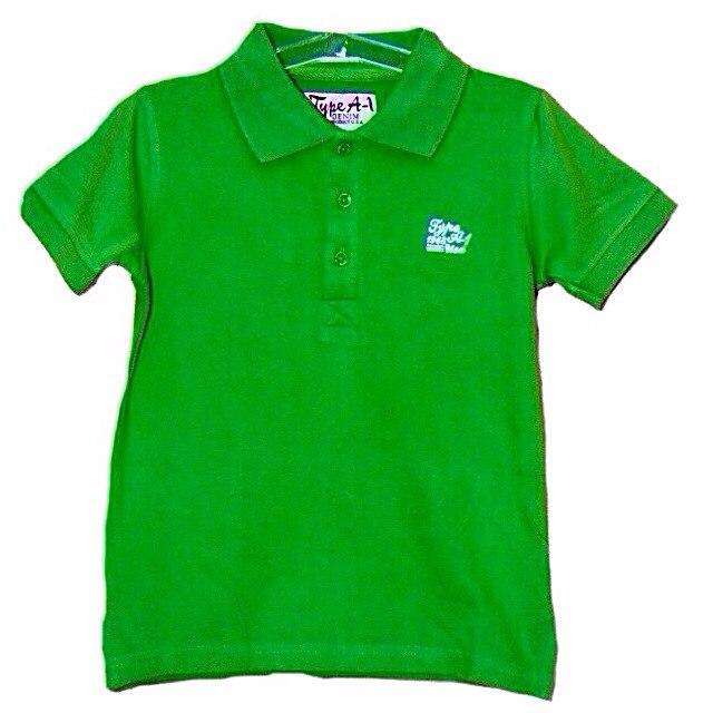Фото 1: Зеленая футболка для мальчиков Type A-1