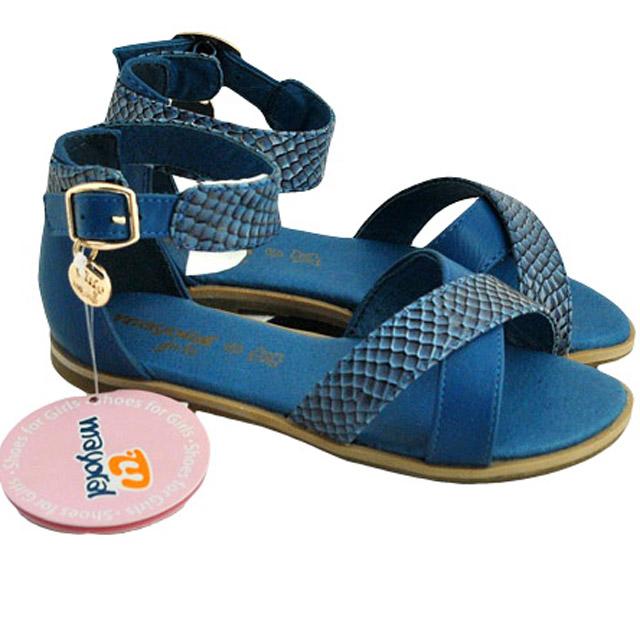 Фото 1: Синие босоножки для девочек Mayoral