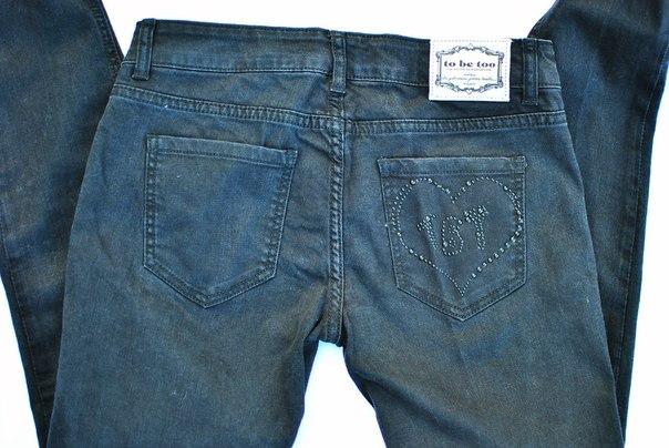 Фото 2: Зауженные джинсы для девочек TO BE TOO