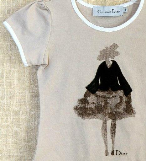 Фото 3: Футболка Dior для девочек с рисунком