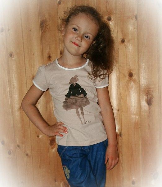 Фото 5 Футболка Dior для девочек с рисунком