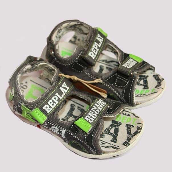 Фото 3: Легкие кожаные босоножки Replay для мальчиков
