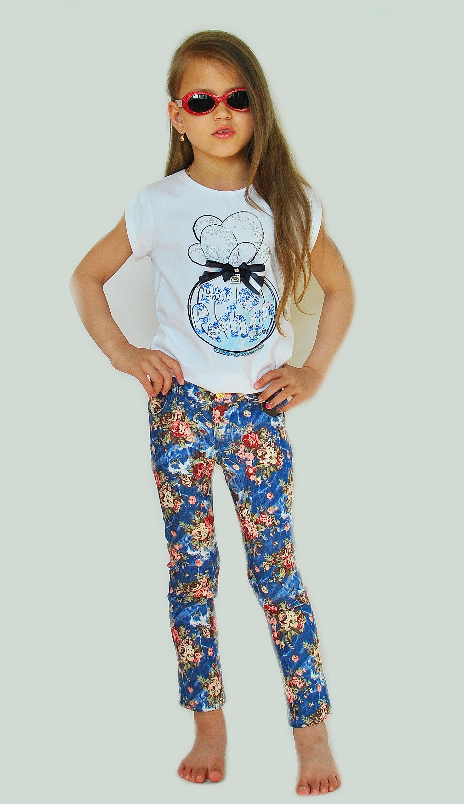 Фото 4: Яркие джинсы Catimini для девочек