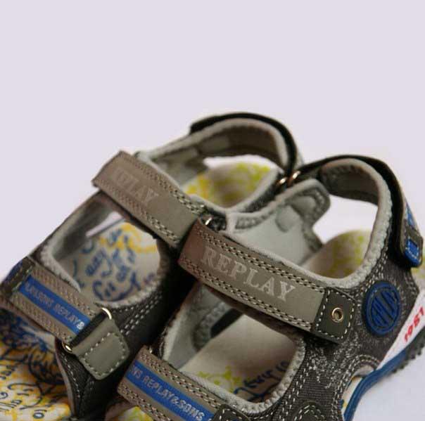 Фото 2: Легкие кожаные босоножки Replay