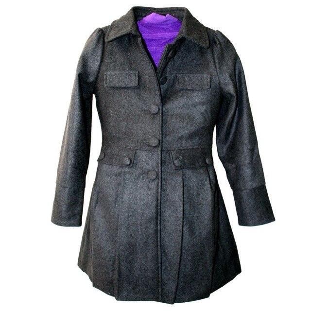 Фото 1: Модное серое пальто Sisley для девочек