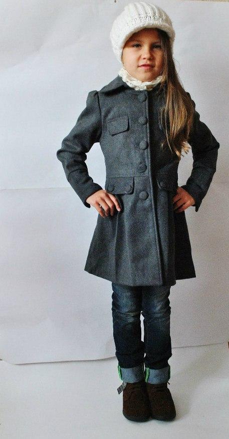 Фото 4: Модное серое пальто Sisley для девочек