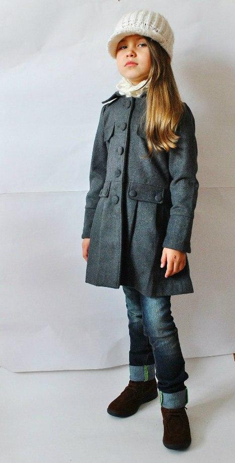 Фото 5: Модное серое пальто Sisley для девочек
