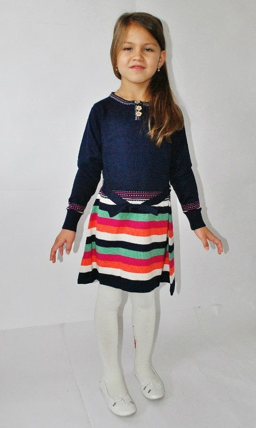 Фото 2: Синие платье I pinco Pallino