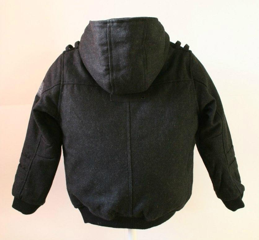 Фото 1: Серое утепленное пальто Next