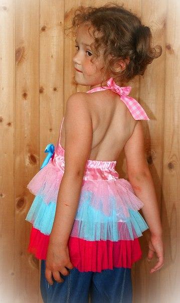 Фото 5: нарядная туника Guess для девочек