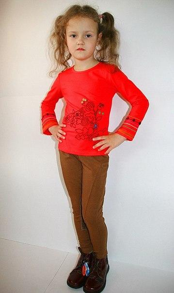 Фото 3: Коричневые брюки для девочек ZARA
