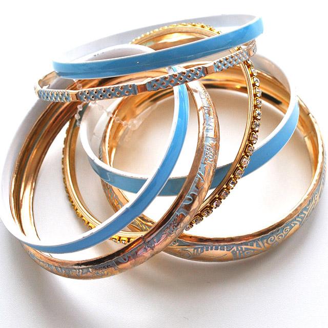 Фото 2: Набор браслетов можно носить по одиночно и набором.