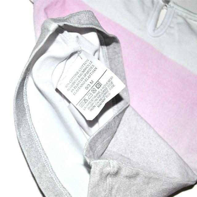 Фото 3: Розово-серая футболка Laura Biagiotti для малышей
