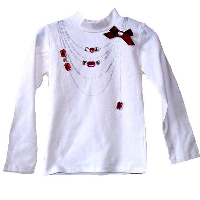 Фото 1: Белая футболка с длинным рукавом MIRTILLO
