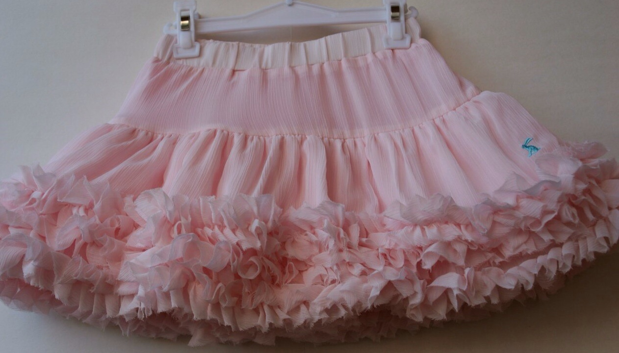 Фото 2: Розовая юбка из шифона