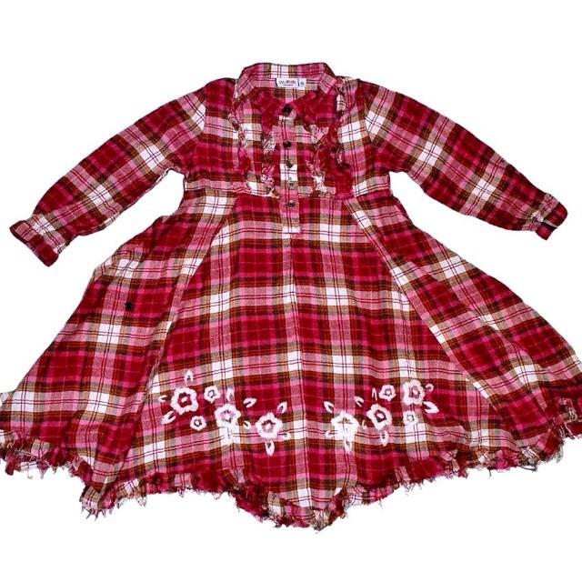 Фото 1: Платье красное в декоративную клетку WeKids by KappAhl