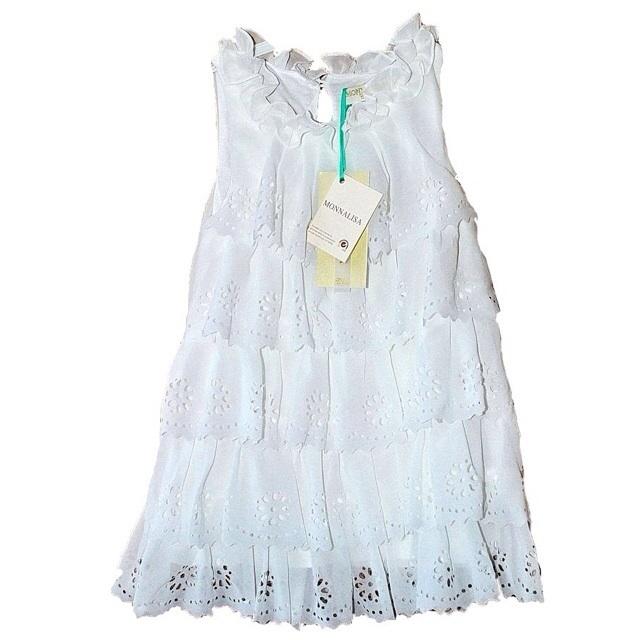 Фото 1: Белое праздничное платье для девочек