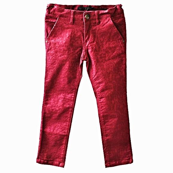 Фото 1: Бордовые джинсы IKKS