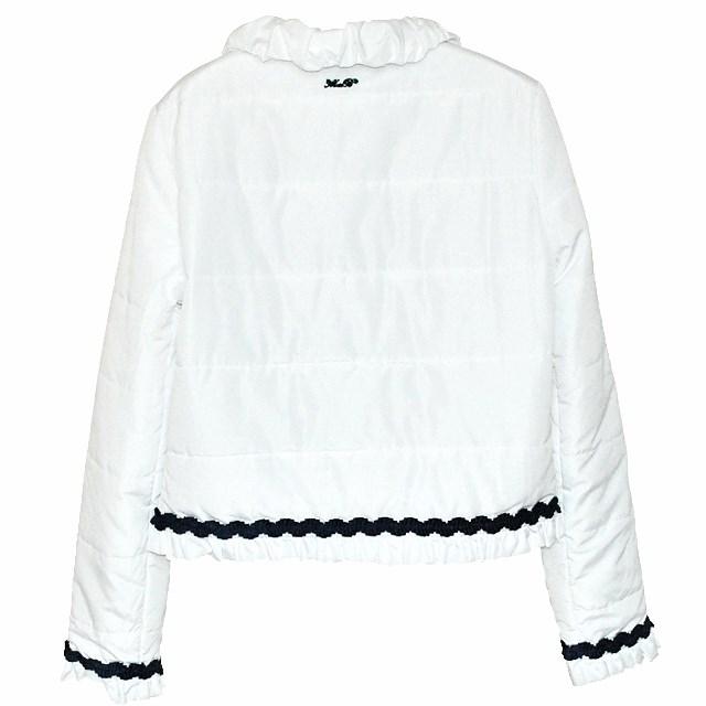Фото 2: Белоснежная куртка Miss Blumarine для маленьких модниц