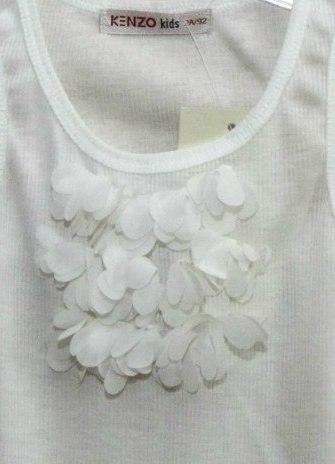 Фото 3: белая майка Kenzo для девочек