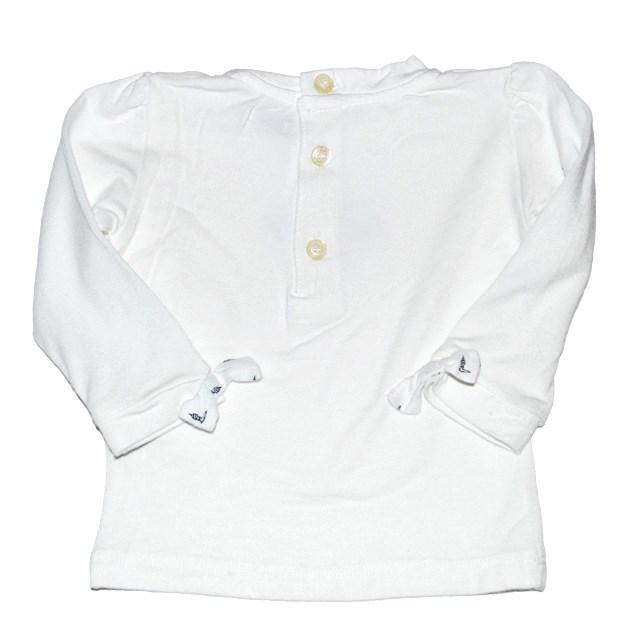 Фото 2: Белая блуза Trussardi для малышей украшена кристаллами
