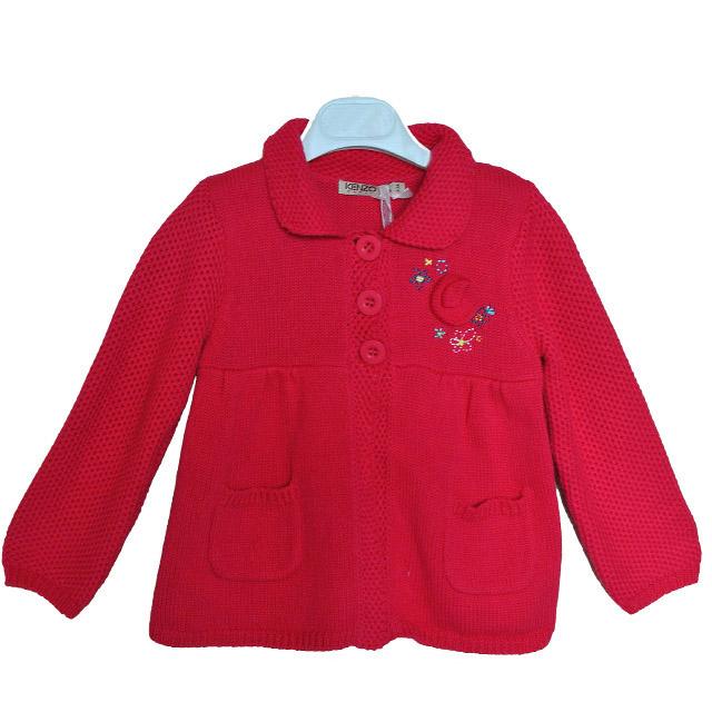 Фото 1: Красный кардиган Kenzo для девочек