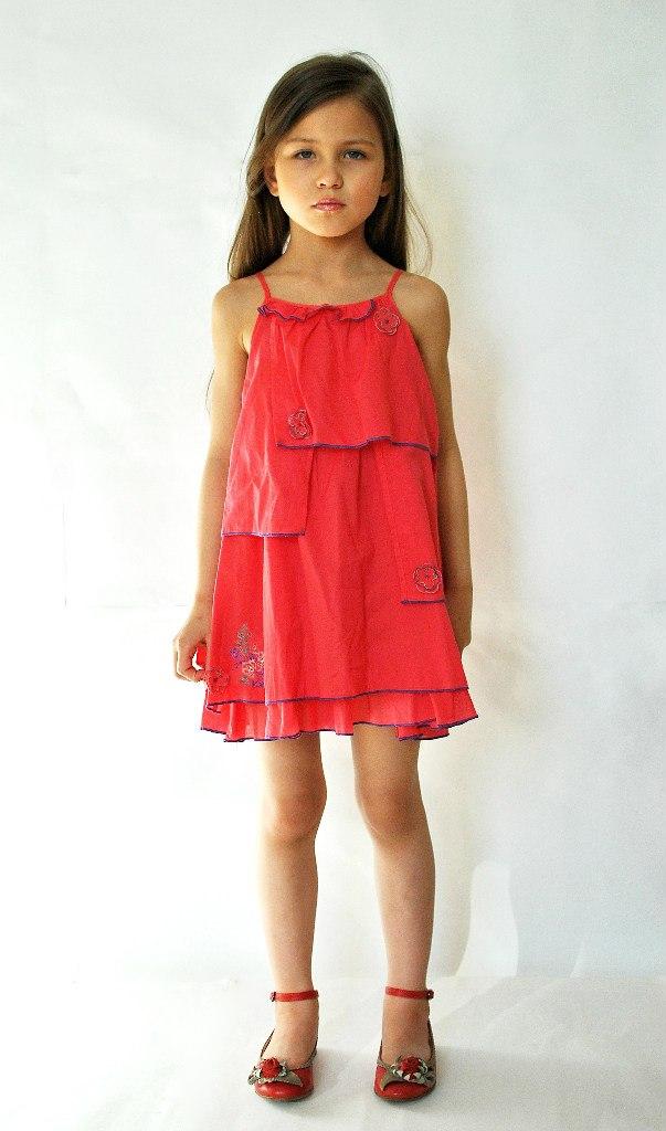 Фото 5: Яркий сарафан Kenzo для девочек