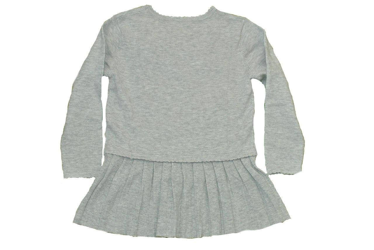 Фото 2: Детская туника IKKS для девочек серого цвета