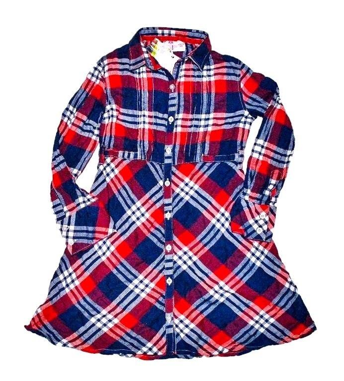 Фото 1: Платье для девочек PRENATAL в декоративную клетку