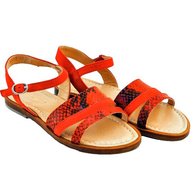 Фото 1: Красные сандалии для девочек Tiffani