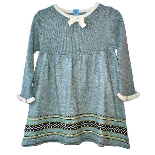 Фото 1: Серое платье для девочек I Pinco Pallino